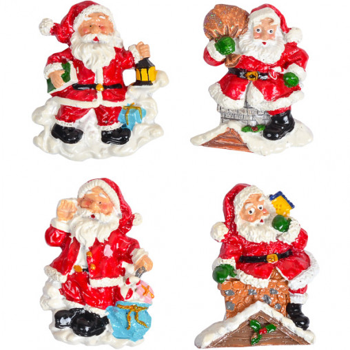 "Магнит ""Дед Мороз на крыше""керамический 6730-5"