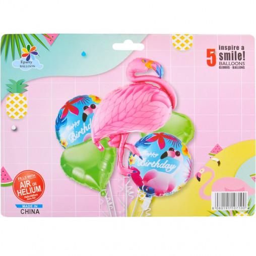 """Набор шариков фольгированных """"Фламинго"""" 5 шт  А-126/5-164"""
