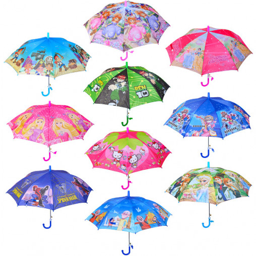 Зонтик - трость детский Мультики №1 Х2104/76