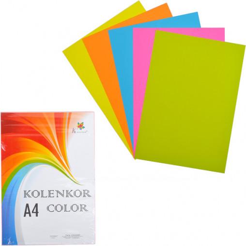 Бумага для ксерокса А4 5 цветов, НЕОН 250 листов 80г/м²