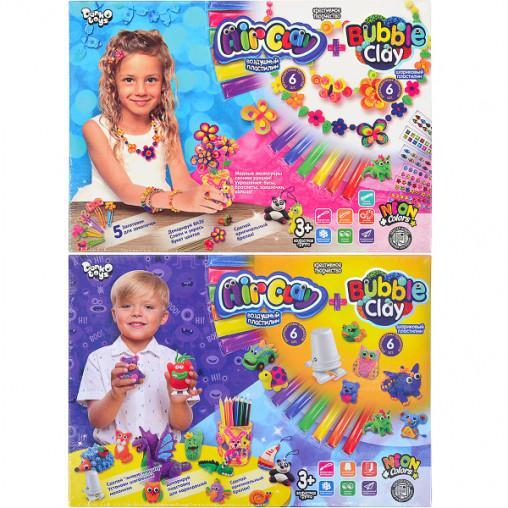 "Набор из пластилина ""AIR CLAY+BUBBLE CLAY"" РУС ARBB-01-01,02 ДТ-ТЛ-02-39"