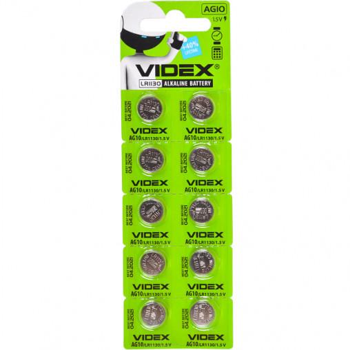 "Батарейка Videx ""таблетка"" AG 10 V-291680"