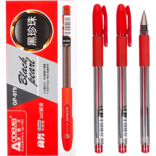 """Ручка гелевая 979 """"Black pearl"""" красная"""