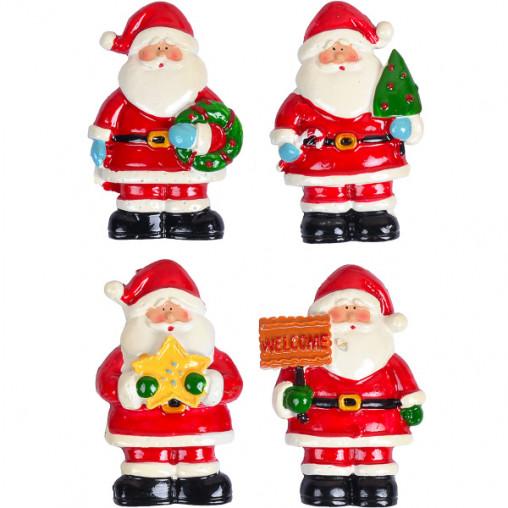 """Магнит """"Дед Мороз с елкой/звездой""""керамический 6730-4"""