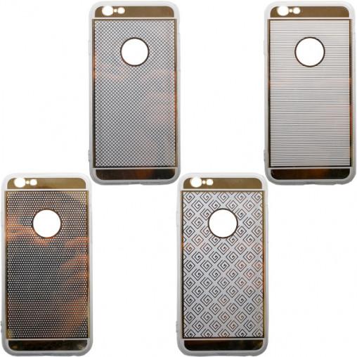 Чехол силикон зеркальный с рисунком на iPhone6