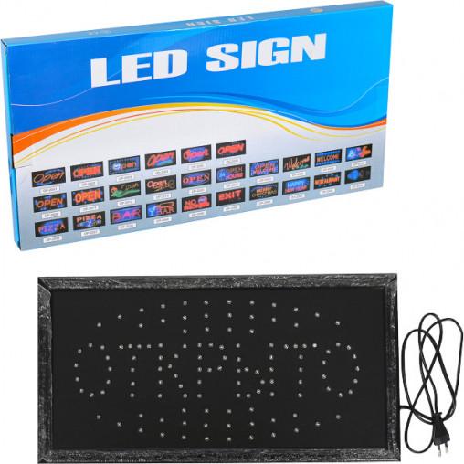 Светодиодная LED вывеска ОТКРЫТО 48*25*2см ОР-2104