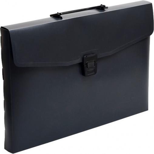 Портфель пластик разборной А4 черный 412