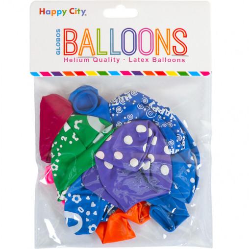 """Набор шариков """"Цветной с рисунком 8шт"""" 2,8гр 5-145"""
