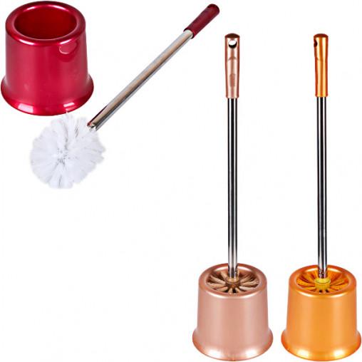 Щётка-ершик для унитаза однотон. с подставкой металл ручка 49см 888/Х2-205