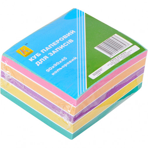 """Блок 500 листов 90*90мм цветной """"Коленкор"""" BSX8/500"""