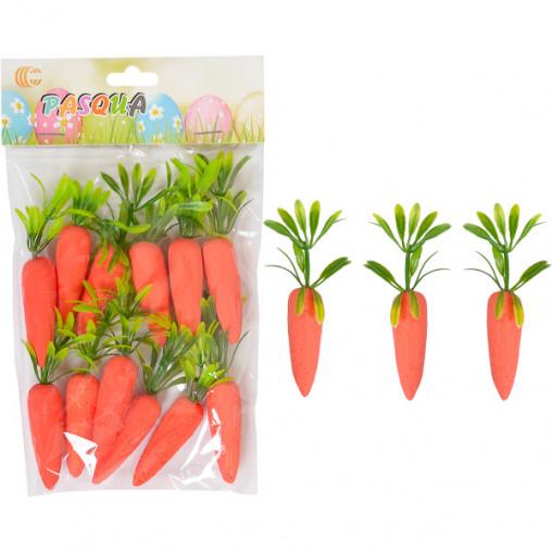 Набор декоративных морковок 12шт  203612