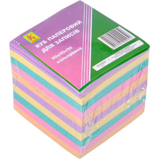 """Блок 900 листов 90*90мм цветной """"Коленкор"""" BSX8/900"""