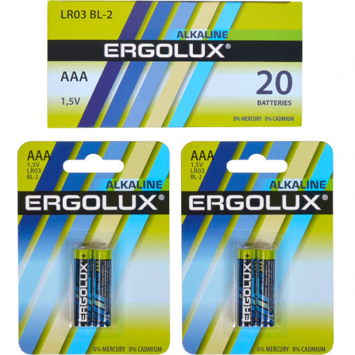 Батарейка Ergolux AAA LR03 BL-2 Alkaline E-871010