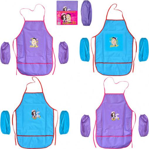 Фартук детский с нарукавниками для девочек CR5530