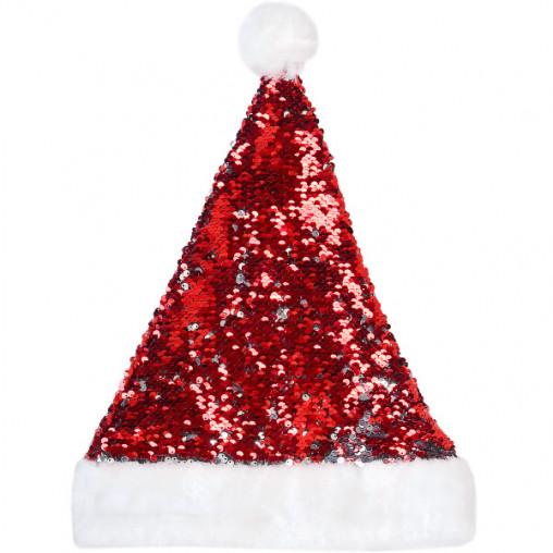 """Шапка """"Деда Мороза"""" с пайетками 2 стороны 6216-12/13-54"""