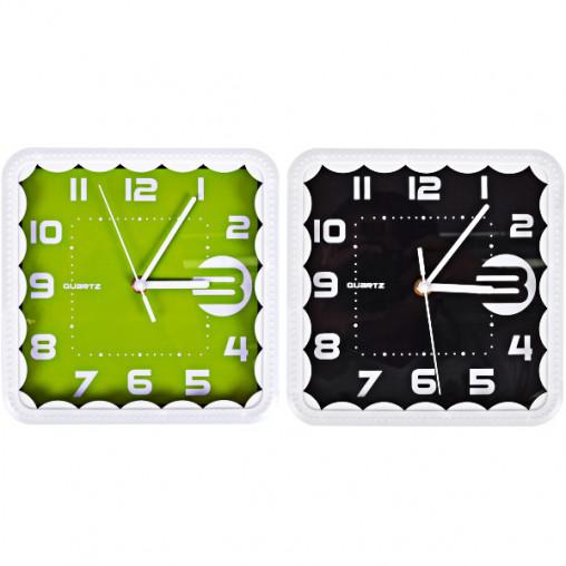 "Настенные часы Х2-27/8882 ""Квадрат кружево"" без рисунка 22*22*4см"