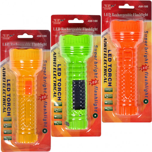 Фонарик LED 186, 165*57*39 мм