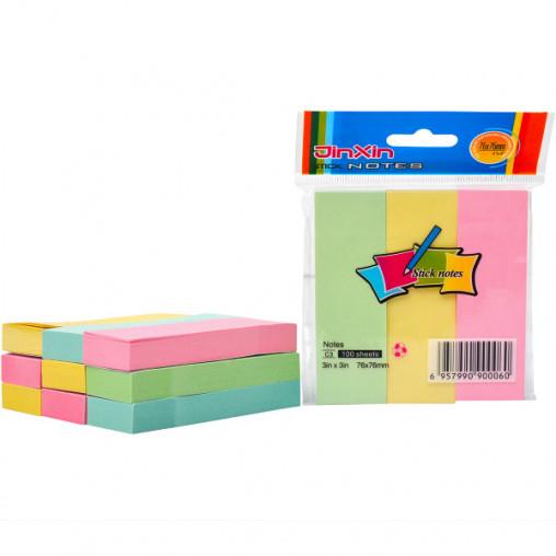 """Бумага для заметок B2-42/C3-3 """"стик"""" 3*3 цветной 100 листов"""