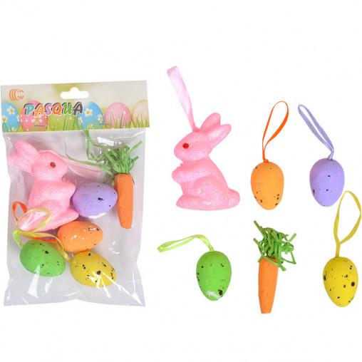 """Набор декоративный  """"Зайчик, морковка, яйца с ленточкой"""" HA-344"""