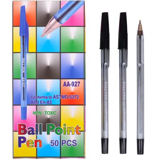 """Ручка шариковая AA927 """"С"""" черная"""