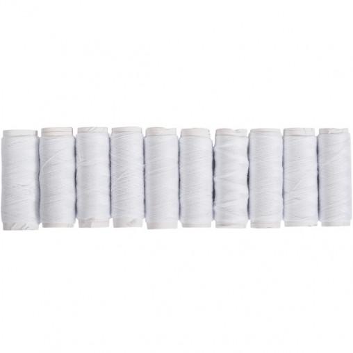 Набір ниток білих, 10 штук X4-99