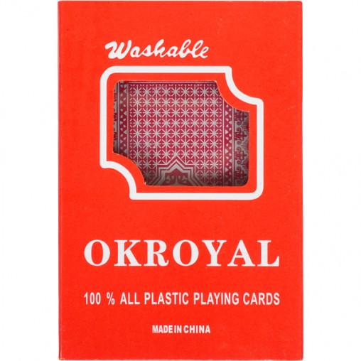 """Карты игральные, пластиковые """"OKROYAL 1 колода"""