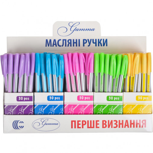 "Ручка масляная ""Gamma"" ""С"" CR8011 микс"