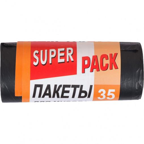 Пакет для мусора 50х60 35л 15 штук Super Luxs/PACK 20030