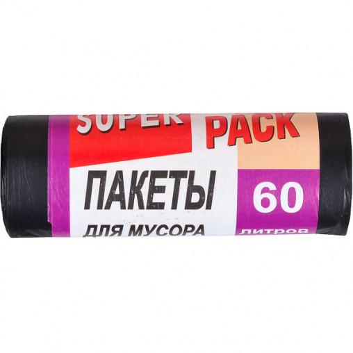 Пакет для мусора 60х80 60л 10 штук Super Luxs/PACK