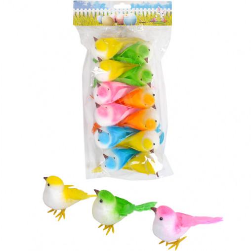 """Набор декоративных птичек """"Синички цветные"""" на проволоке 17-7130"""