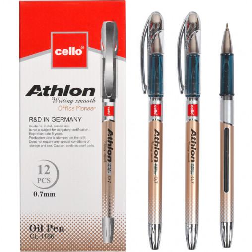 "Ручка масляная ""Athlon"" Cello CL1166-12 синяя"