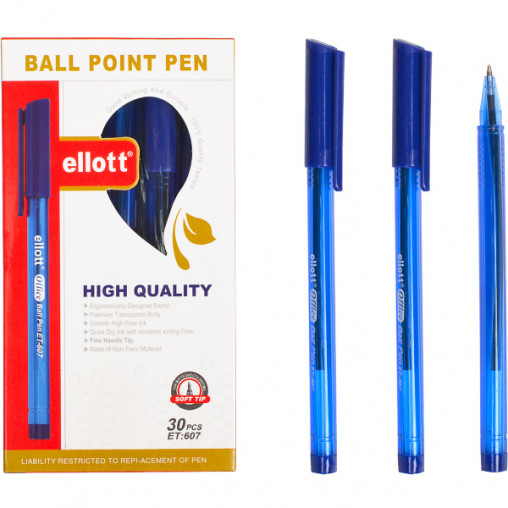 "Ручка масляная ""Ellot"" ET607 синяя"