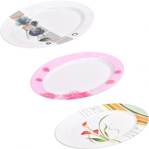 Меламиновая тарелка овал 6010/Х3-24 25*19 см