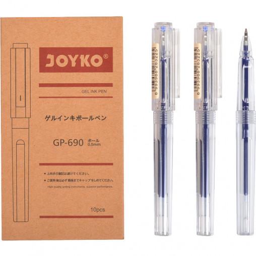 Ручка гелевая GP-690 JOYKO 10 штук, синяя