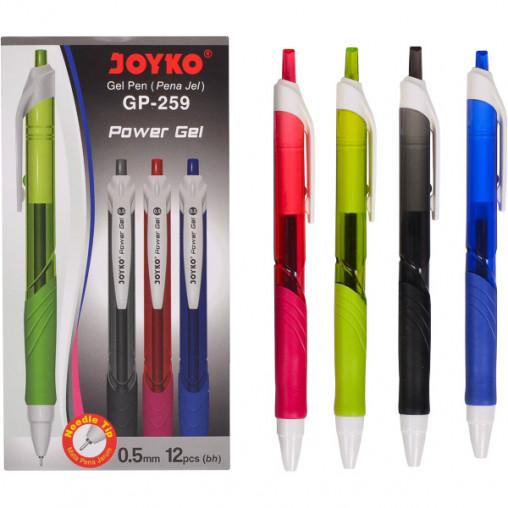 Ручка гелевая GP-259 JOYKO 12 штук, черная