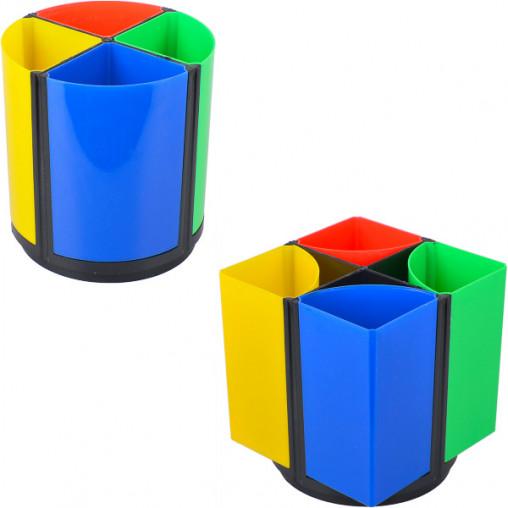 Стакан для ручек пластиковый SDR 468 10*10*11см