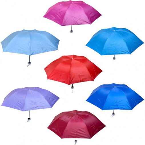 Зонтик складной механический цветной/серебряный Х2110/102