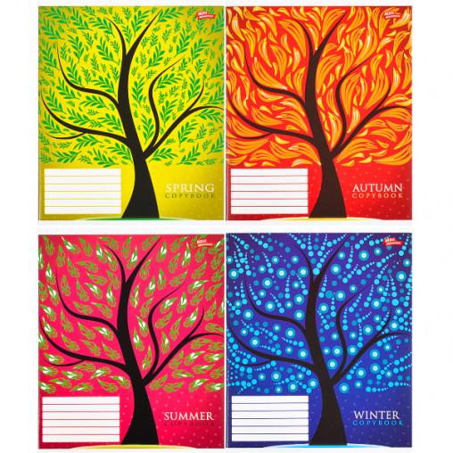 Тетрадь цветная 48 листов, клетка 2694к