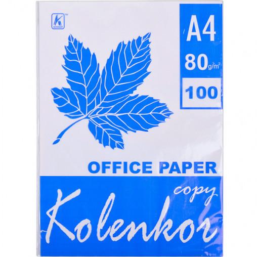 """Бумага для ксерокса А4 """"Коленкор"""" 100 листов, 80г/м² B100OF65"""