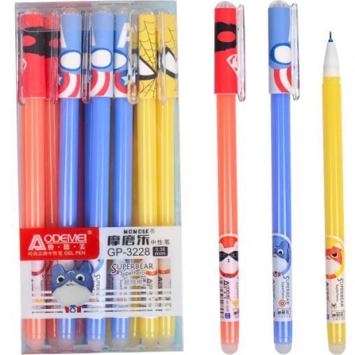 """Ручка """"пишет-стирает Супер герои"""" 3228 синяя"""