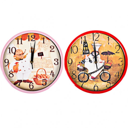 """Настенные часы Х2-42 """"Шеф-Повар"""" 29,5*4см"""