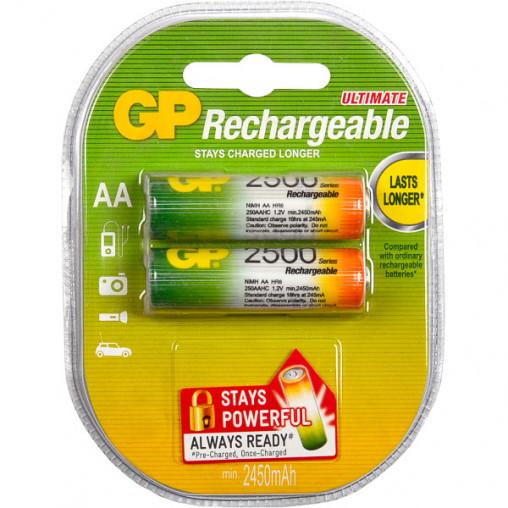 Аккумуляторы GP АА 2500 перезаряжаемые GP-069901