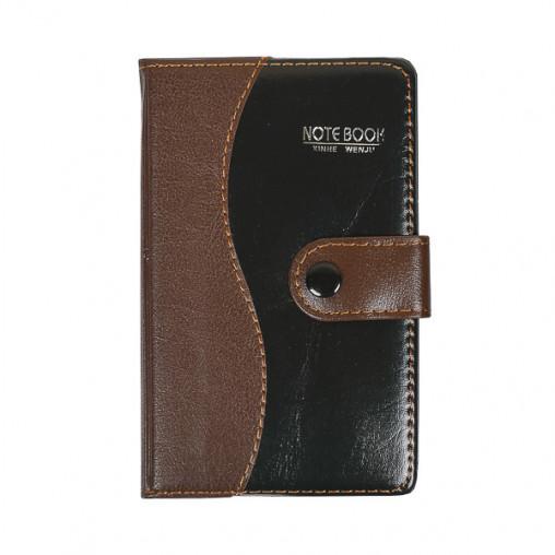 Блокнот 14,5*8,5см с ручкой в обложке кож/зам, клетка 1760