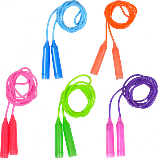 Скакалка цветная пластиковая длина 2,45м D4мм 14-123/2417-2
