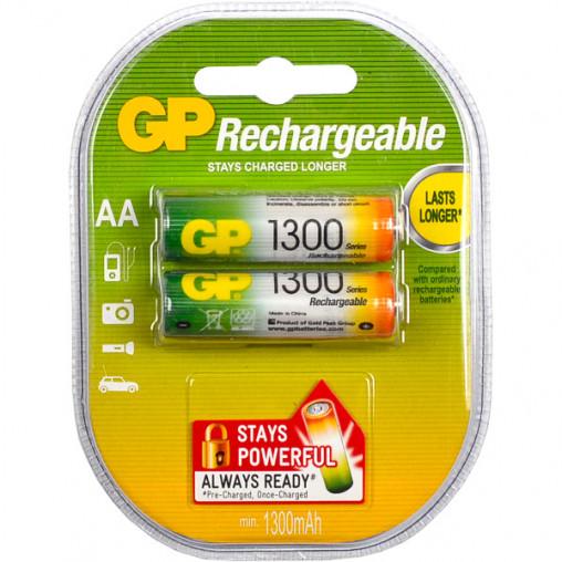 Аккумуляторы GP АА 1300 перезаряжаемые GP-042904