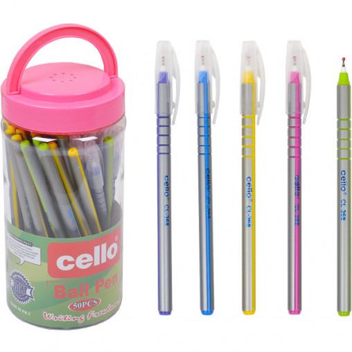 Ручка масляная Cello CL-368PVC синяя
