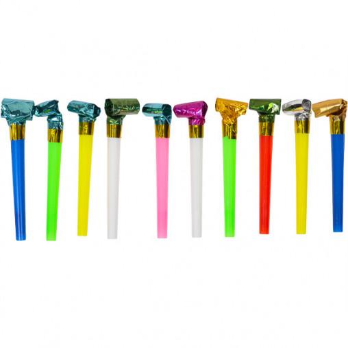 Набор карнавальных свистков 11 см, 100 штук 2889-10