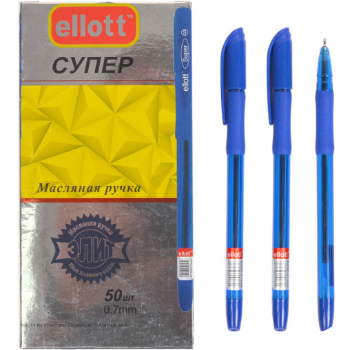 "Ручка масляная ""Ellott"" ET2208-50 синяя"