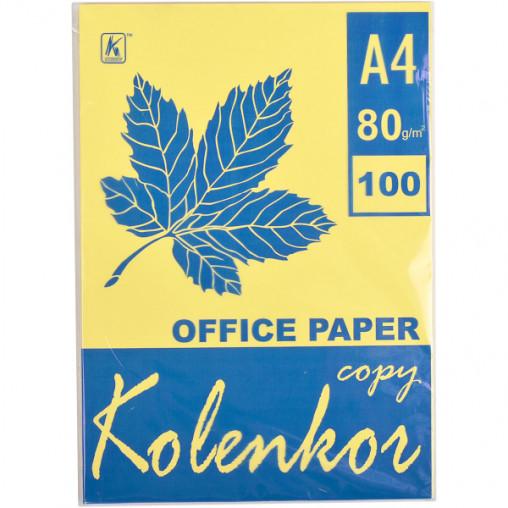 Бумага для ксерокса, А4 100 листов 80г/м² пастель CANARY 115
