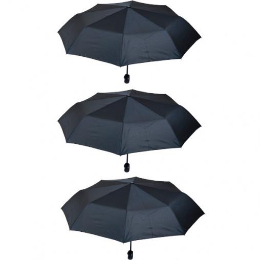 Зонтик складной полуавтомат черный Х2113
